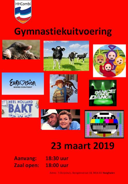 Gymnastiekuitvoering 23 maart 2019